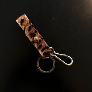 Madewell Leather Pony Hair Key Fob